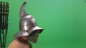 Gladiator against a green screen
